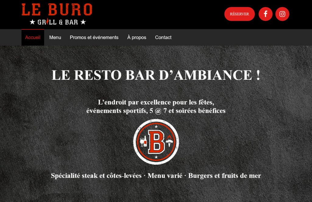 Le Buro Grill Bar-capture ecran